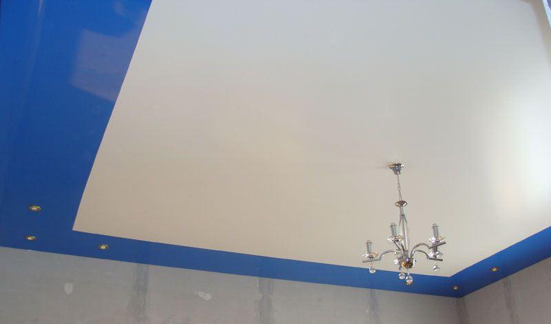 цена с установкой двухуровневые натяжные потолки